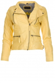 OAKWOOD | Leather jacket Roxanne | yellow  | Picture 1