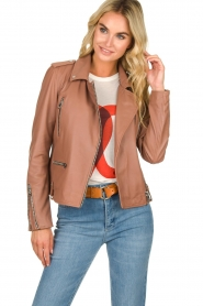 OAKWOOD | Leather jacket Olympe | nude  | Picture 2