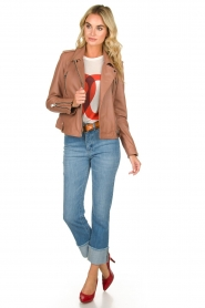 OAKWOOD | Leather jacket Olympe | nude  | Picture 3