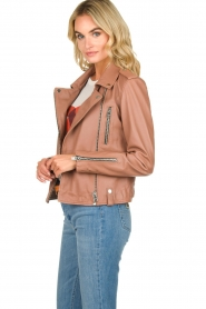 OAKWOOD | Leather jacket Olympe | nude  | Picture 4