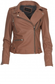 OAKWOOD | Leather jacket Olympe | nude  | Picture 1