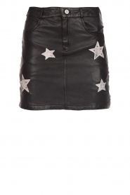 OAKWOOD |  Leather skirt with stars Meryl | black  | Picture 1