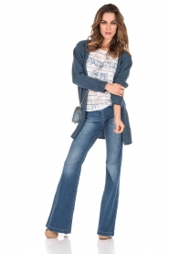 Knit-ted | Wollen vest Puck | blauw  | Afbeelding 3