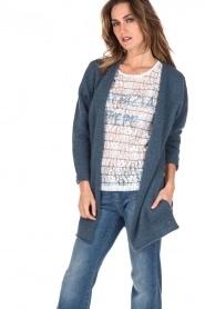 Knit-ted | Wollen vest Puck | blauw  | Afbeelding 2
