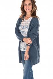 Knit-ted | Wollen vest Puck | blauw  | Afbeelding 4