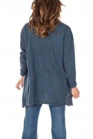 Knit-ted | Wollen vest Puck | blauw  | Afbeelding 5
