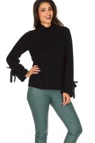 Hunkydory | Luxe trui Rachel | donkerblauw  | Afbeelding 5