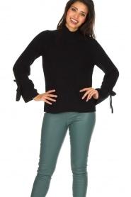 Hunkydory | Luxe trui Rachel | donkerblauw  | Afbeelding 2