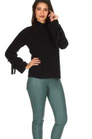 Hunkydory | Luxe trui Rachel | donkerblauw  | Afbeelding 4