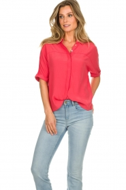 Aaiko |  Blouse Venda | coral red  | Picture 2