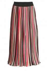 Aaiko |  Striped plisse skirt Philou | multi  | Picture 1