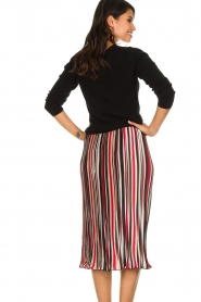 Aaiko |  Striped plisse skirt Philou | multi  | Picture 5
