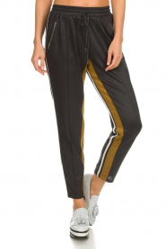 Aaiko |  Sweatpants with lurex finish Lines | grey  | Picture 3