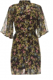 Aaiko |  Floral dress Emy | black  | Picture 1