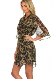Aaiko |  Floral dress Emy | black  | Picture 5