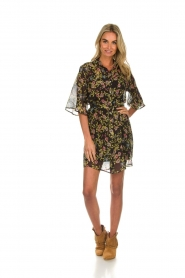 Aaiko |  Floral dress Emy | black  | Picture 3