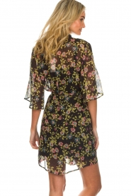 Aaiko |  Floral dress Emy | black  | Picture 6