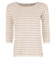 Knit-ted | Top Lewis | wit  | Afbeelding 1