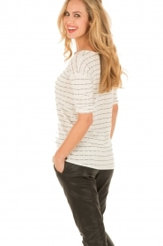 Knit-ted | Top Lewis | wit  | Afbeelding 5