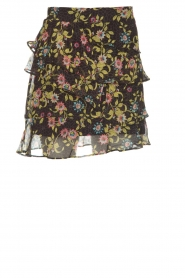 Aaiko |  Printed ruffle skirt Georgina | black  | Picture 1