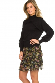 Aaiko |  Printed ruffle skirt Georgina | black  | Picture 4