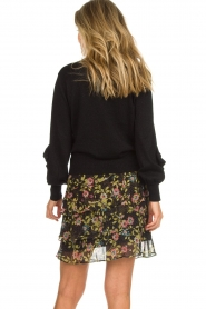 Aaiko |  Printed ruffle skirt Georgina | black  | Picture 5