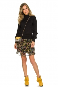 Aaiko |  Printed ruffle skirt Georgina | black  | Picture 3