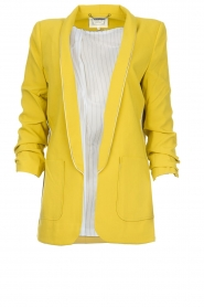 Aaiko |  Blazer with side stripes Pinta | ochre  | Picture 1