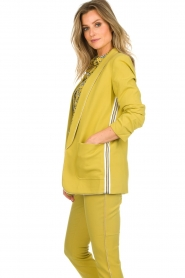 Aaiko |  Blazer with side stripes Pinta | ochre  | Picture 4