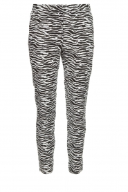 Aaiko |  Zebra print trousers Parien | black  | Picture 1