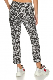 Aaiko |  Zebra print trousers Parien | black  | Picture 5