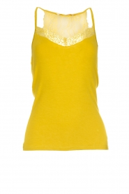 Aaiko |  Top with lace Jolie | ochre yellow