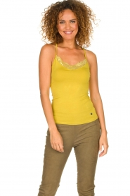 Aaiko |  Top with lace Jolie | ochre yellow  | Picture 2