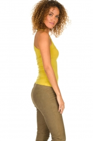 Aaiko |  Top with lace Jolie | ochre yellow  | Picture 5