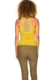 Aaiko |  Top with lace Jolie | ochre yellow  | Picture 6