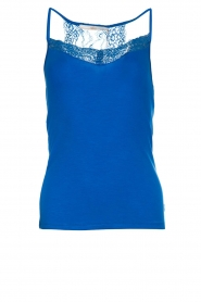 Aaiko |  Top with lace Jolie | blue  | Picture 1