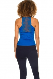 Aaiko |  Top with lace Jolie | blue  | Picture 5