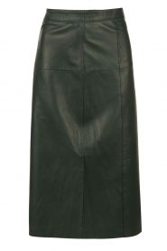 Leather pencil skirt Fay | green