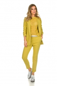 Aaiko |  Top with cut-out details Fleuron | ochre yellow  | Picture 3