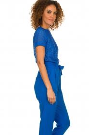 Aaiko | Opengewerkte top Fleuron | blauw  | Afbeelding 5