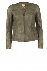 Leather jacket Jay | green