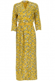 Aaiko |  Maxi dress Seleni | ochre yellow  | Picture 1