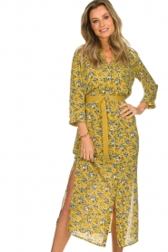 Aaiko |  Maxi dress Seleni | ochre yellow  | Picture 2