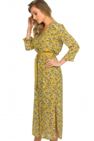 Aaiko |  Maxi dress Seleni | ochre yellow  | Picture 4