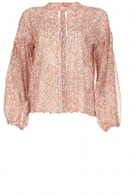 Aaiko |  Printed blouse Shaba | pink  | Picture 1