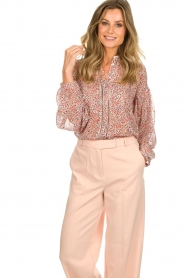 Aaiko |  Printed blouse Shaba | pink  | Picture 2