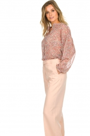 Aaiko |  Printed blouse Shaba | pink  | Picture 5
