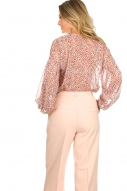 Aaiko |  Printed blouse Shaba | pink  | Picture 6