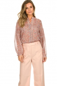 Aaiko |  Printed blouse Shaba | pink  | Picture 4