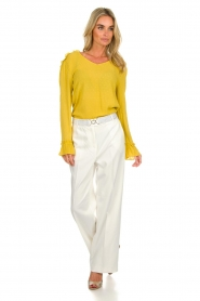 Aaiko |  Classic trousers Calida | white  | Picture 2